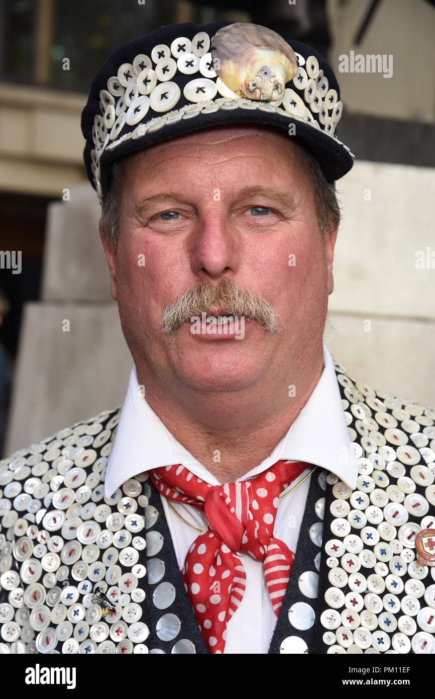 London, UK. 16th Sep, 2018. The 20th anniversary of the annual Pearly Kings and Queens Harvest Festival,Guildhall Yard,London.UK Credit: michael melia/Alamy Live News - Stock Image