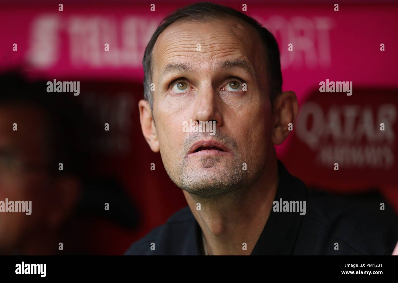 firo: 15.09.2018 Fuvuball, Football: 1.Bundesliga FC Bayern Munich - Bayer 04 Leverkusen, coach Heiko Herrlich, Bayer, Leverkusen, portrait, | usage worldwide Stock Photo