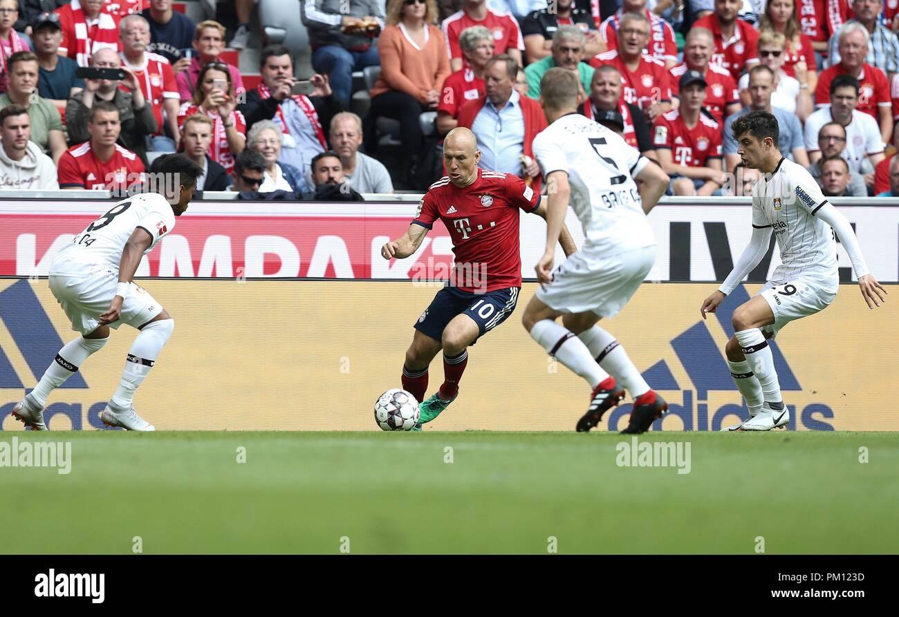 firo: 15.09.2018 Fuvuball, Football: 1.Bundesliga FC Bayern Munich - Bayer 04 Leverkusen, Arjen Robben, FC Bayern, Munich, Munich, | usage worldwide Stock Photo