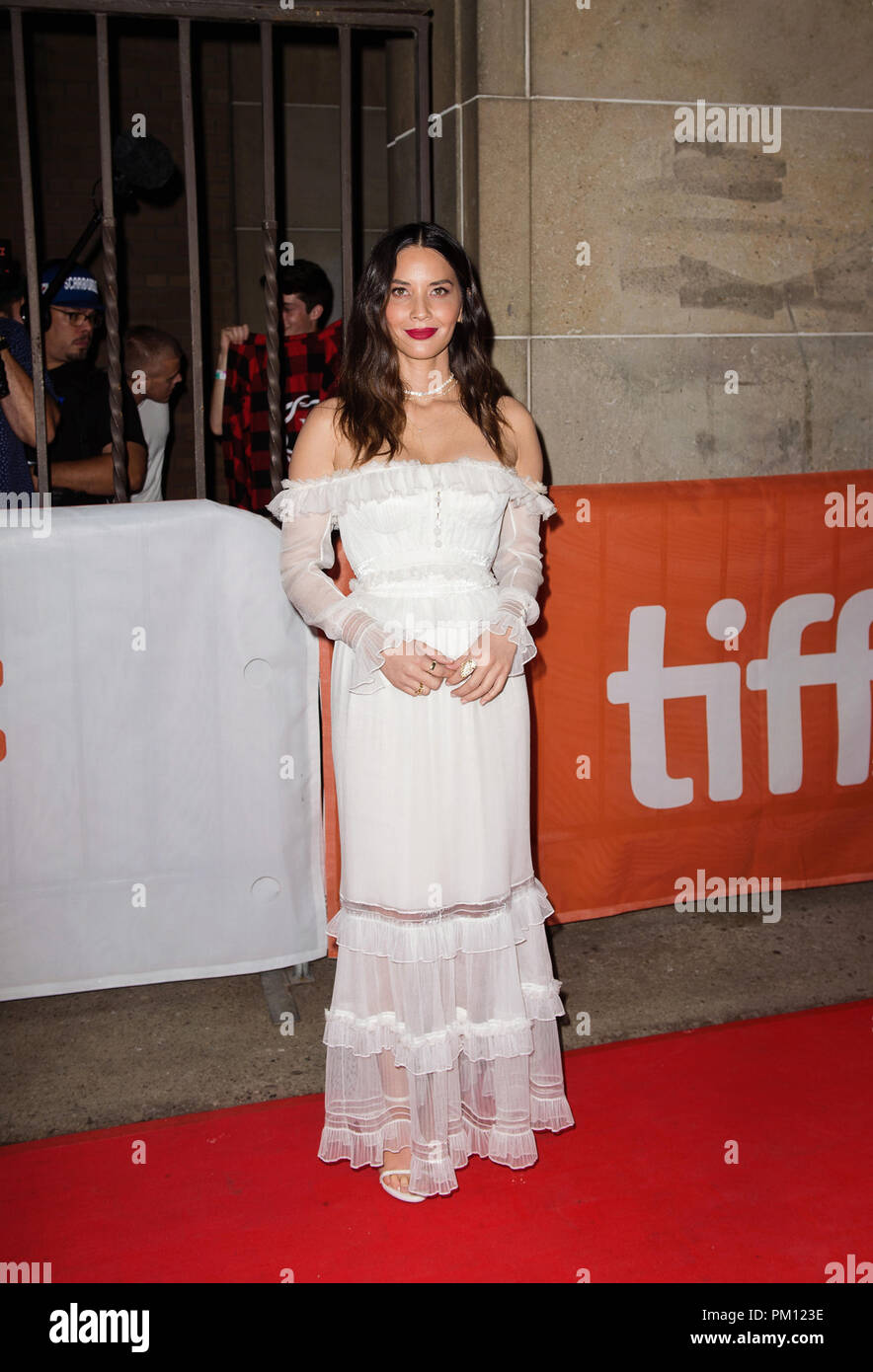 Toronto, Ontario, USA. 6th Sep, 2018. 06 September 2018 - Toronto, Ontario Canada - Olivia Munn. 2018 Toronto International Film Festival - ''The Predator'' Premiere held at Roy Thomson Hall. Photo Credit: Brent Perniac/AdMedia Credit: Brent Perniac/AdMedia/ZUMA Wire/Alamy Live News Stock Photo