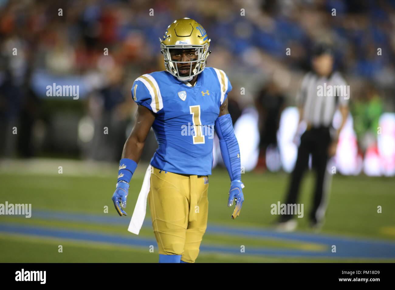 pretty nice 52813 f2c10 Pasadena CA. 15th Sep, 2018. UCLA Bruins defensive back ...