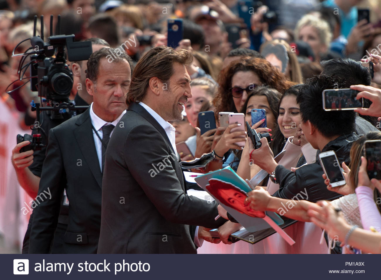 Javier Bardem, actor. TIFF 2018: Toronto International Film Festival is one of the most important events of the film industry in the world Stock Photo