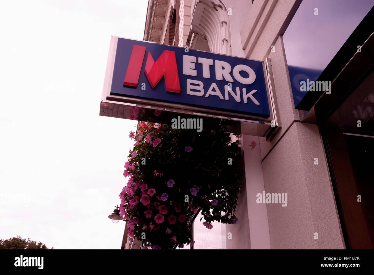 metro bank in the city of canterbury kent uk september 2018 - Stock Image