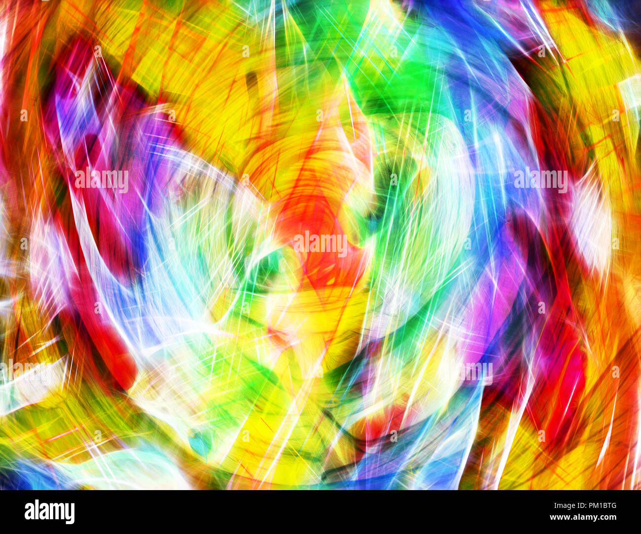Art Bright Colorful Light Streaks Abstract Background In Blue Red