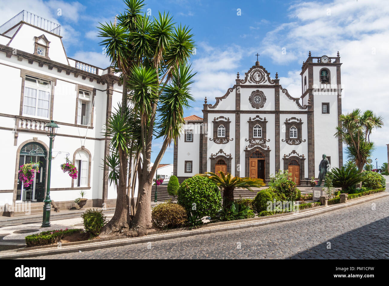 Church of Saint George sao miguel azores - Stock Image