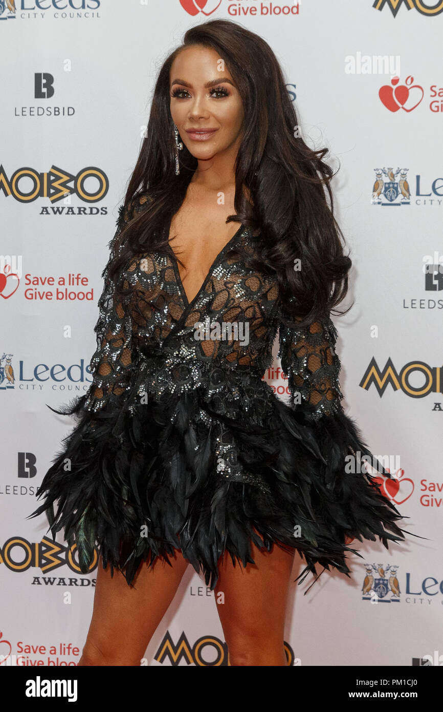Chelsee Healey, British actress famous for playing Goldie McQueen in Hollyoaks, on the red carpet at the MOBO Awards. Healey (real name Chelsea Jade Healey) also appeared in Casualty and Waterloo Road and was runner-up in the ninth series of Strictly Come Dancing. - Stock Image
