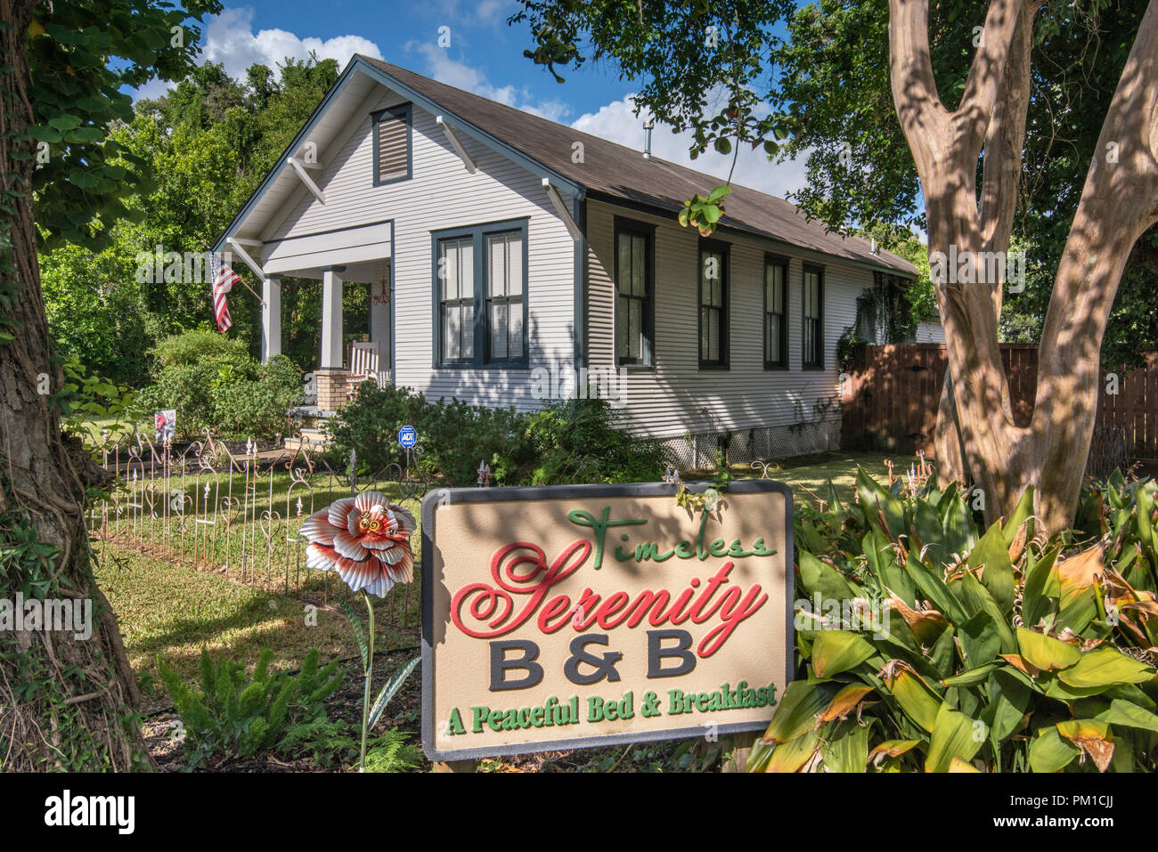 Timeless Serenity B&B, historic district near center of Victoria, Texas, USA - Stock Image