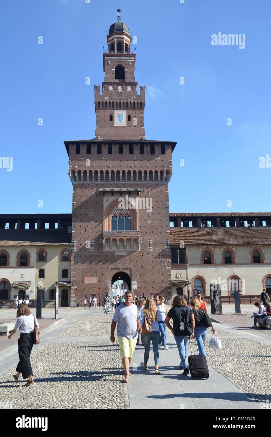 Milano (Mailand), Hauptstadt der Lombardei, Nord-Italien: Castello Sforzesca - Stock Image