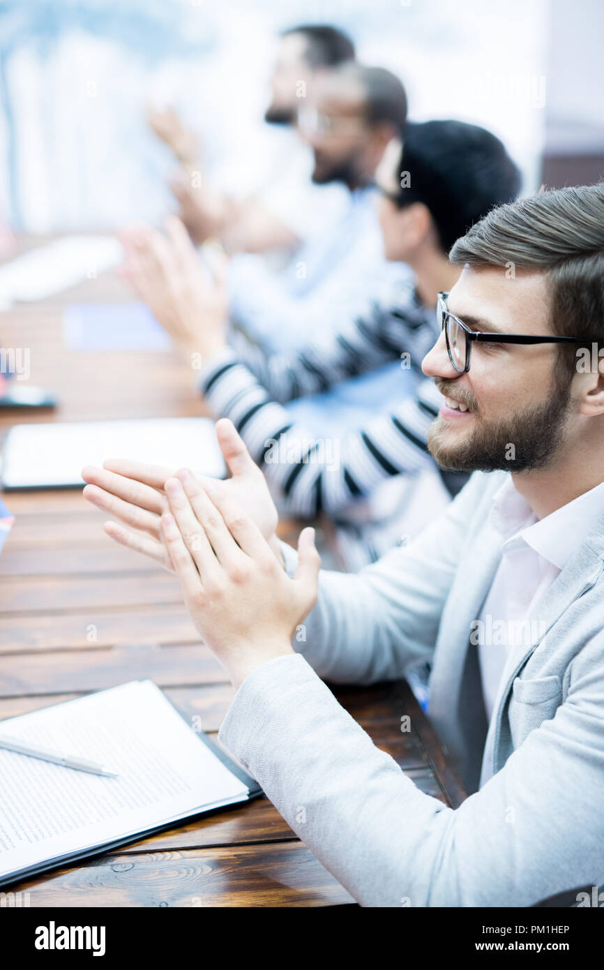 Successful business seminar - Stock Image