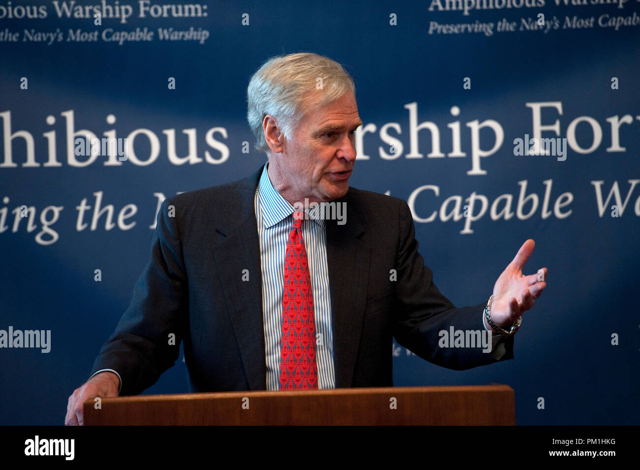 UNITED STATES - Feb 11:  U.S. Representative Ander Crenshaw, R-FLA., from Florida's 4th district during the Amphibious Warship Industrial Base Coaliti - Stock Image
