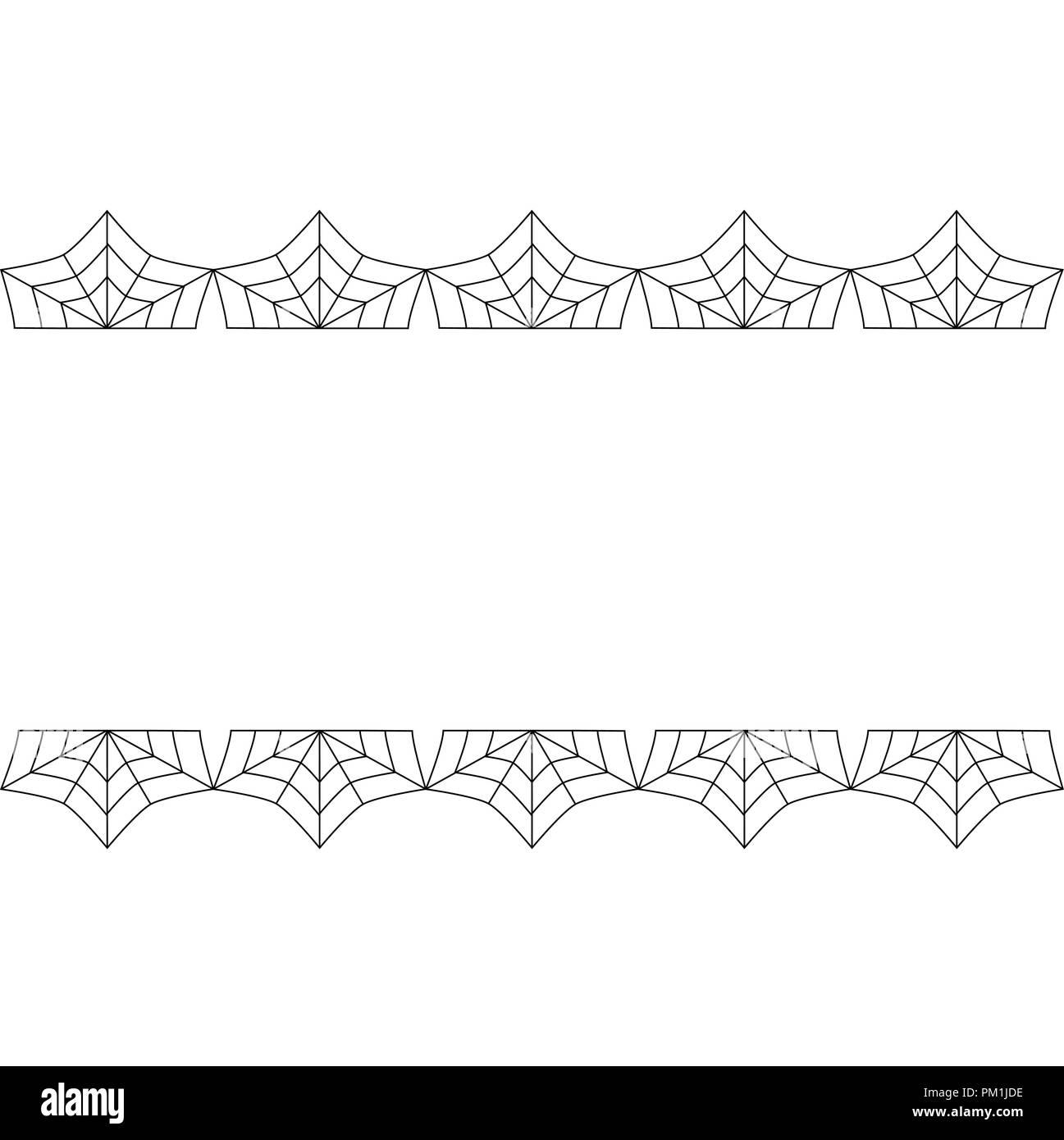 halloween frame vector elegant double black spiderweb lace border