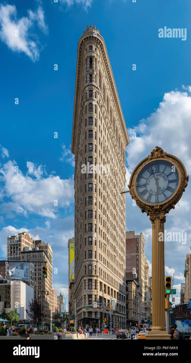 Flat Iron building in Manhattan, New York City. - Stock Image
