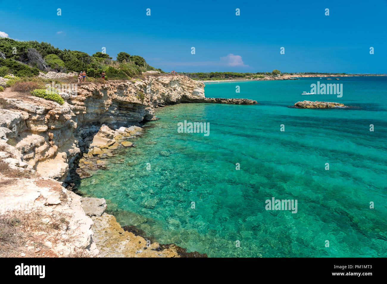 Rocky coastline in the Gelsomineto area, near Siracusa - Stock Image