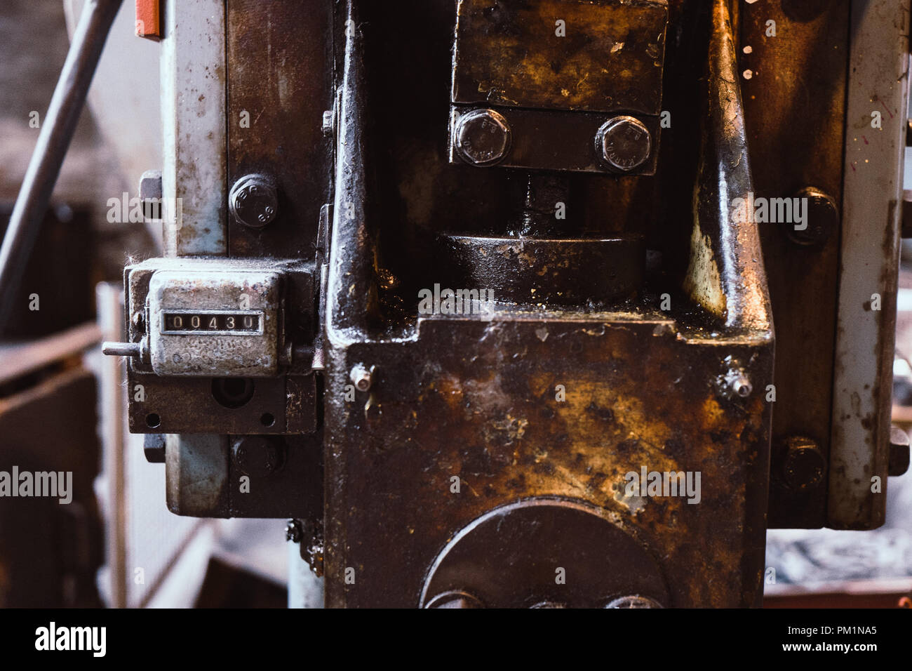 Machinery in old factory - Stock Image