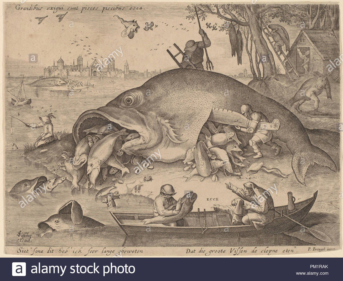 1619. Medium: engraving. Museum: National Gallery of Art, Washington DC.  Author: Hendrik Hondius after Pieter Bruegel the Elder (after Hieronymus  Bosch?
