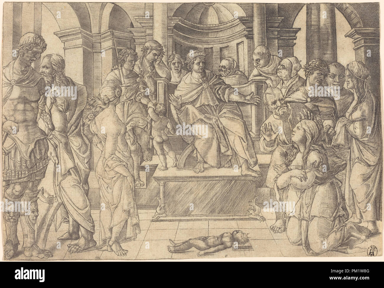 c01e26e2e288 The Judgment of Solomon. Dated  probably c. 1516. Medium  engraving.  Museum  National Gallery of Art