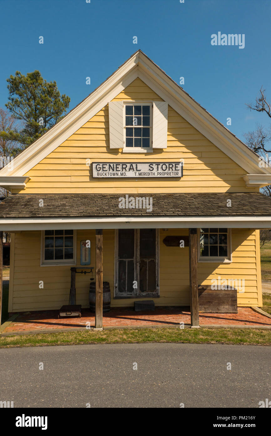 Bucktown general  store site of Harriet Tubmans first act of defiance Maryland - Stock Image