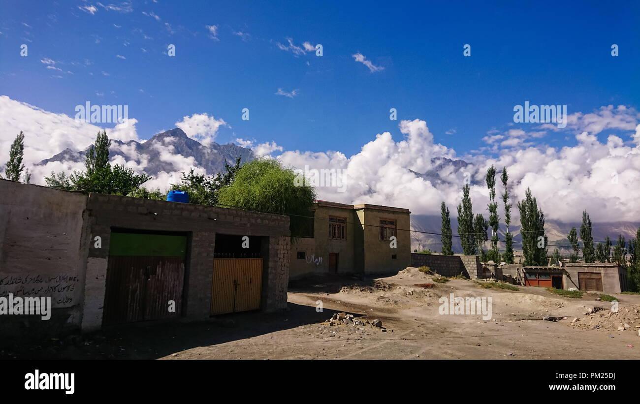 View of skardu, gateway to K2 base camp, Pakistan - Stock Image
