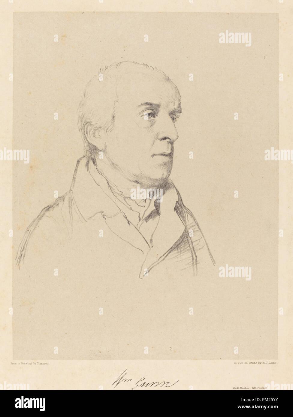 William Gunn. Medium: lithograph on papier colle. Museum: National Gallery of Art, Washington DC. Author: Richard James Lane after John Flaxman. - Stock Image