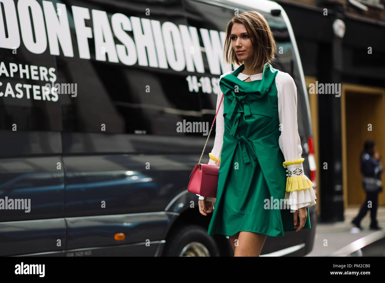 ad3034652e0 Landiana Yolo arriving at the Victoria Beckham runway show during London  Fashion Week - Sept 16