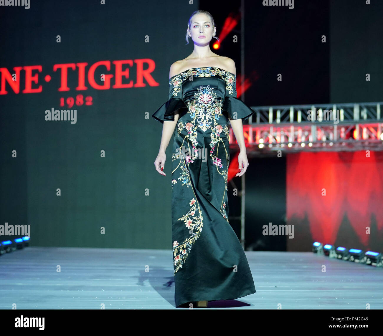 Chongqing 16th Sep 2018 A Model Presents A Creation By Chinese Fashion Designer Zhang Zhifeng During The 2018 China Chongqing International Fashion Week In Southwest China S Chongqing Sept 16 2018 The Event
