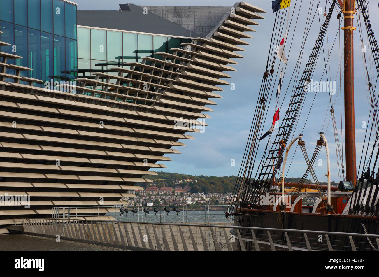 V&A Dundee,RSS Discovery - Stock Image