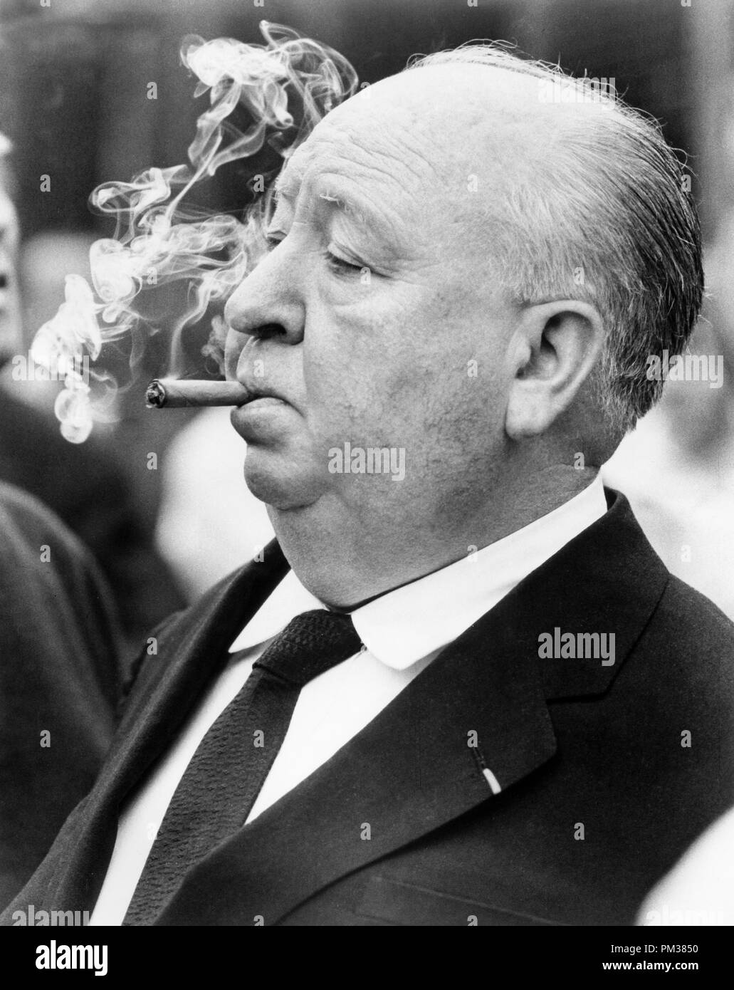 Alfred Hitchcock, 1972.  File Reference # 1154_001THA - Stock Image