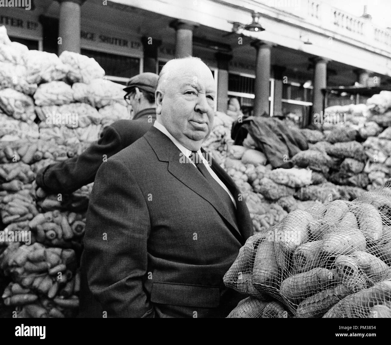Alfred Hitchcock, 1971.  File Reference # 1154_004THA - Stock Image