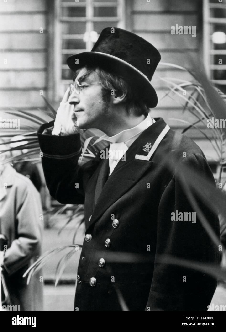 Beatle John Lennon filming a television show for the BBC, 1966.   File Reference # 1193_003THA © JRC /The Hollywood Archive - All Rights Reserved - Stock Image