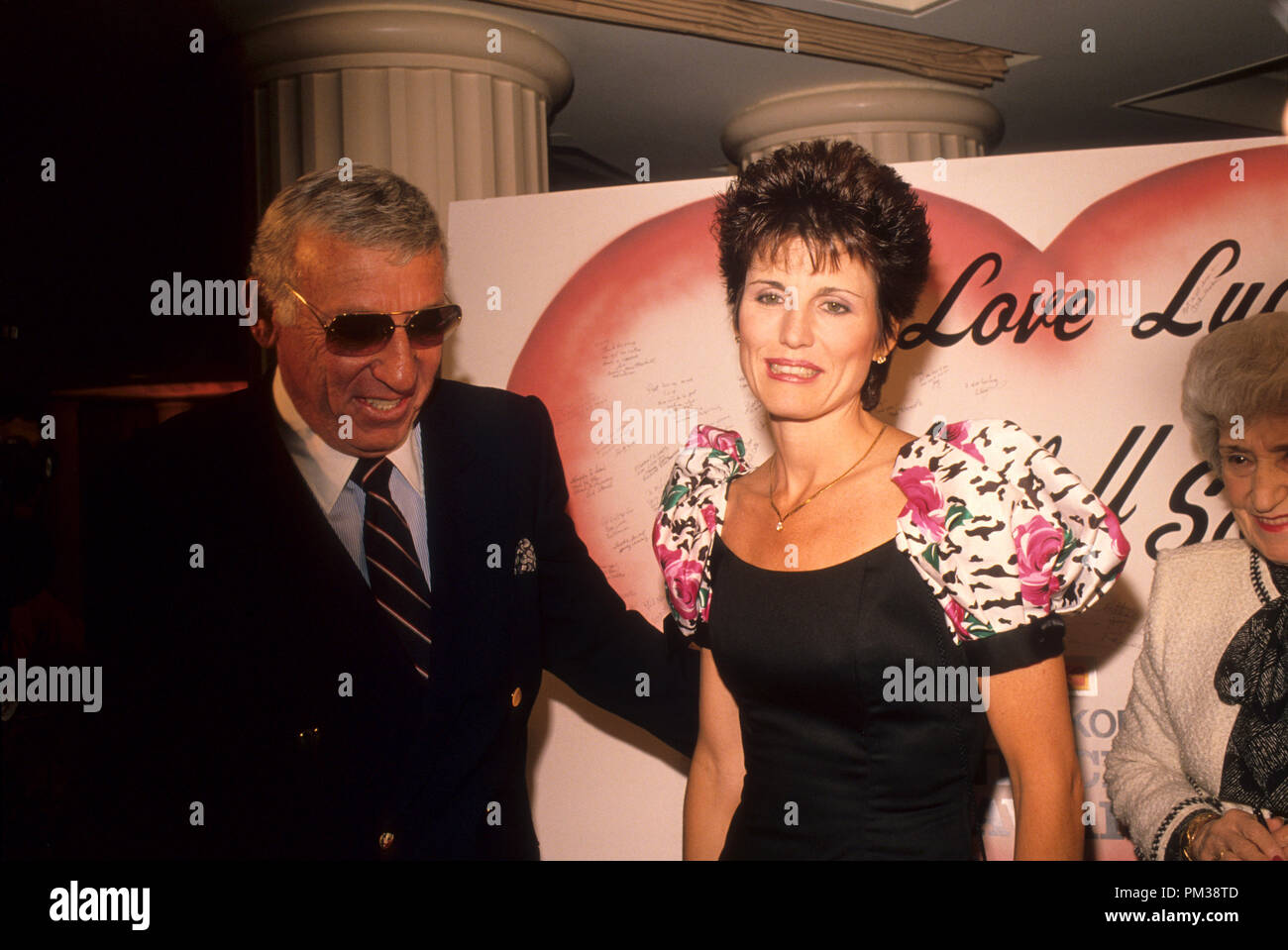 Gary Morton and Lucy Arnaz at the Eastman Second Century Award Ceremony honoring Lucille Ball, 1989.  File Reference # 1238_023THA - Stock Image