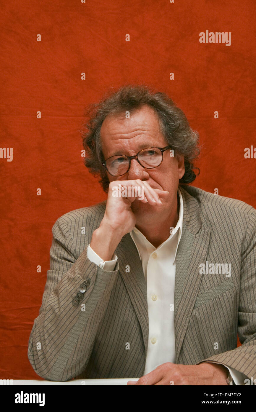 Geoffrey Rush 'The King's Speech' Portrait Session, September 11, 2010.  Reproduction by American tabloids is absolutely forbidden. File Reference # 30485_025JRC  For Editorial Use Only -  All Rights Reserved - Stock Image