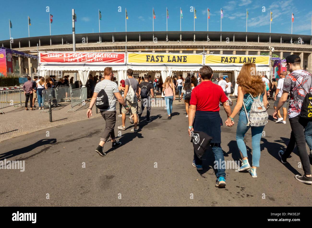 Lollapalooza Berlin 2018 - Stock Image