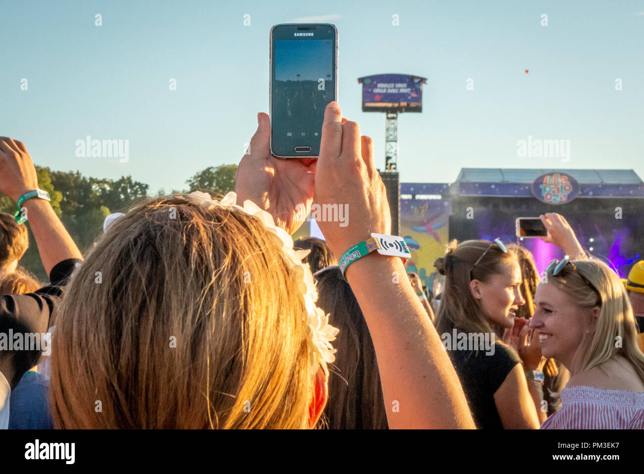 Lollapalooza Berlin 2018 - Stock Image