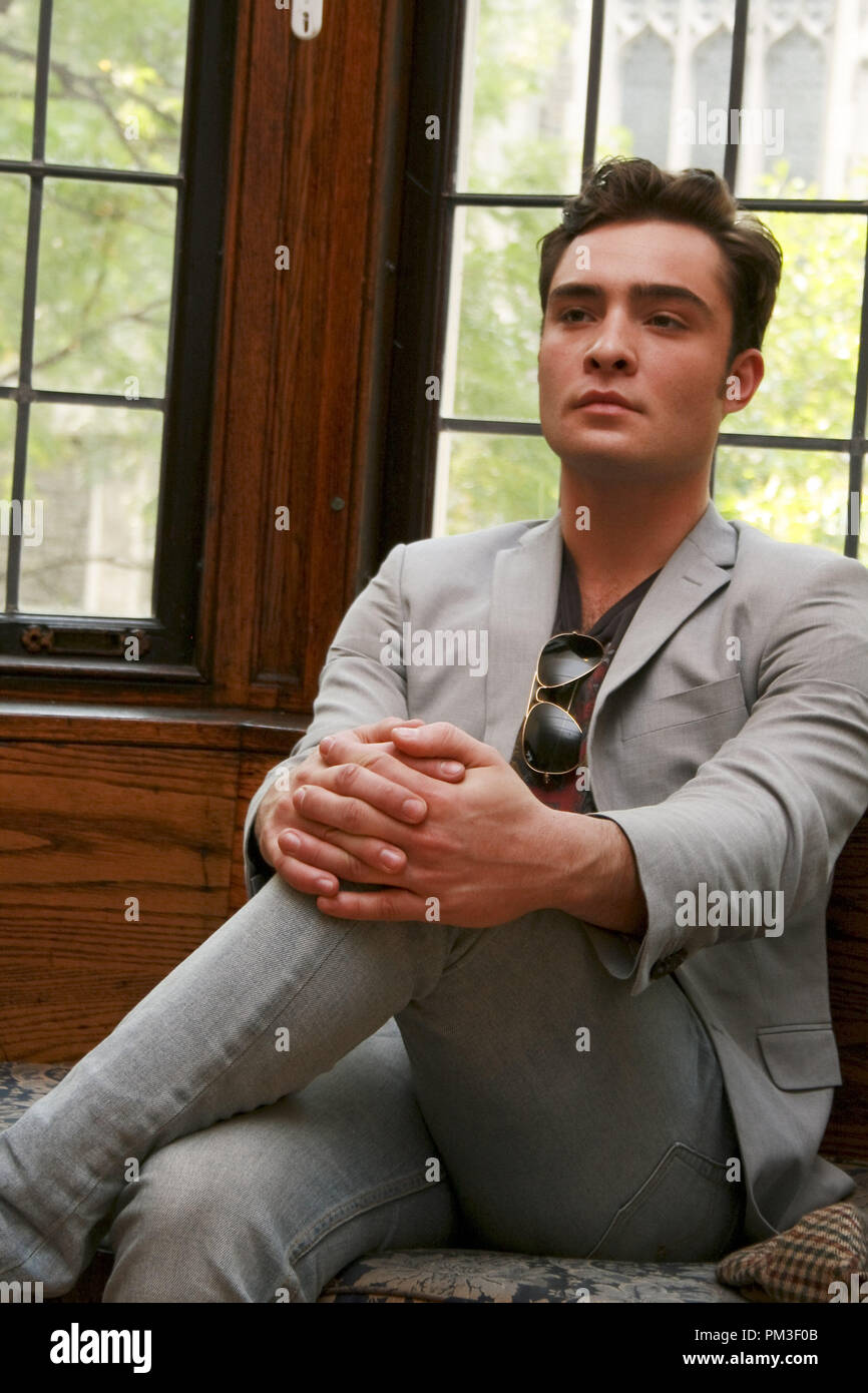 Ed Westwick 'Gossip Girl' Portrait Session, September 23, 2010.  Reproduction by American tabloids is absolutely forbidden. File Reference # 30507_006JRC  For Editorial Use Only -  All Rights Reserved - Stock Image