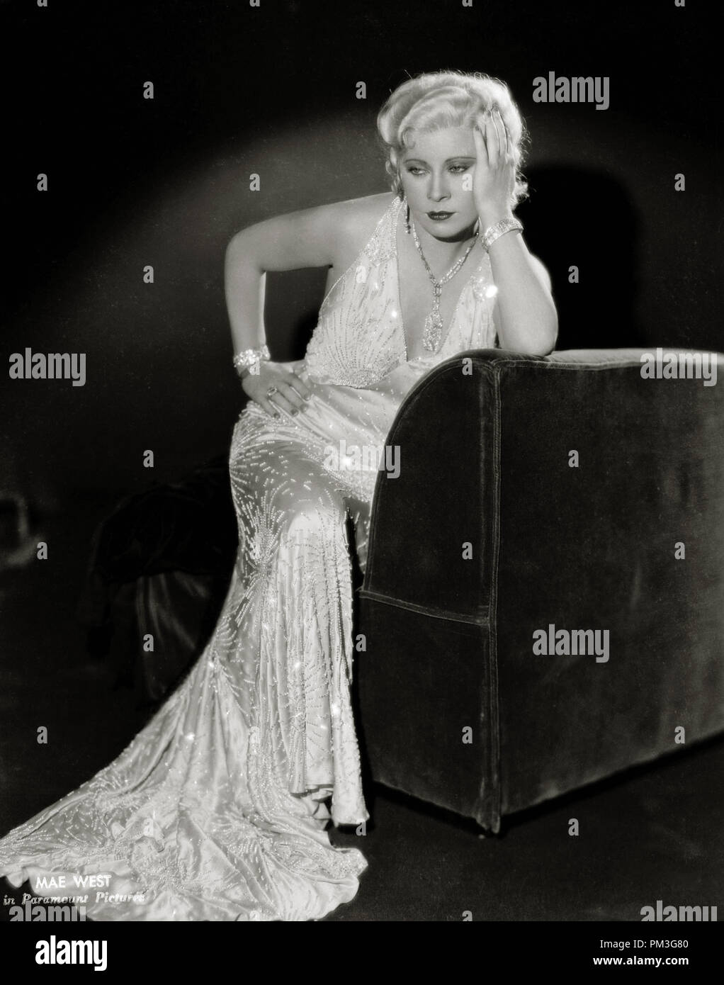Mae West,  circa 1933. File Reference # 30732_497THA - Stock Image