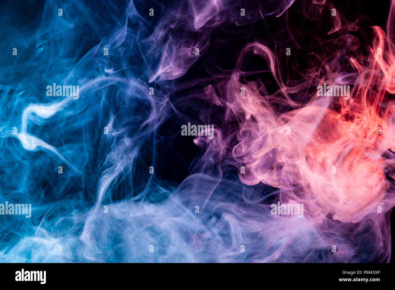 blue red and pink smoke on white background stock photo alamy https www alamy com blue red and pink smoke on white background image218908446 html