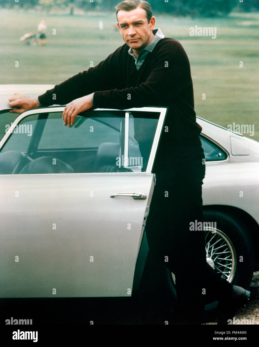 Sean Connery With The Aston Martin Db5 In Character For Goldfinger 1964 Ua File Reference 1025 015tha Stock Photo Alamy