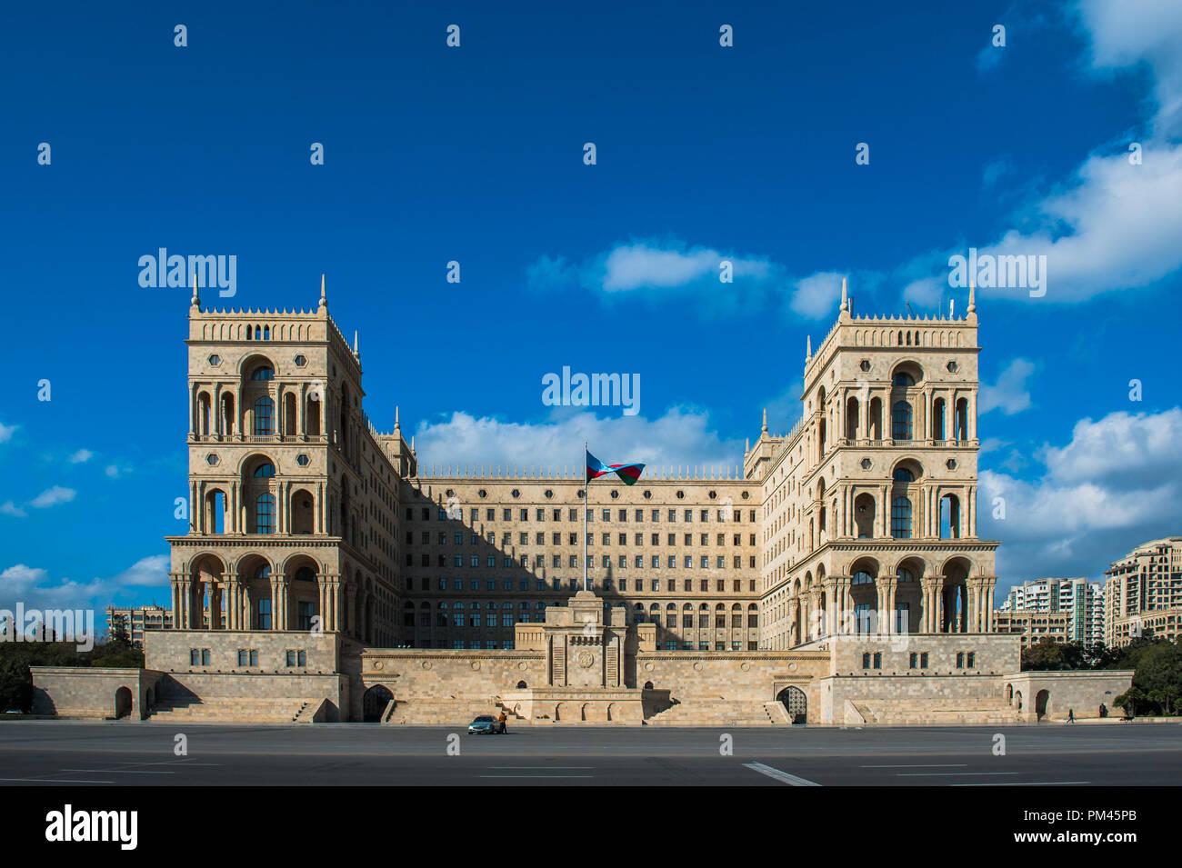 City view of the capital of Azerbaijan, Baku. - Stock Image