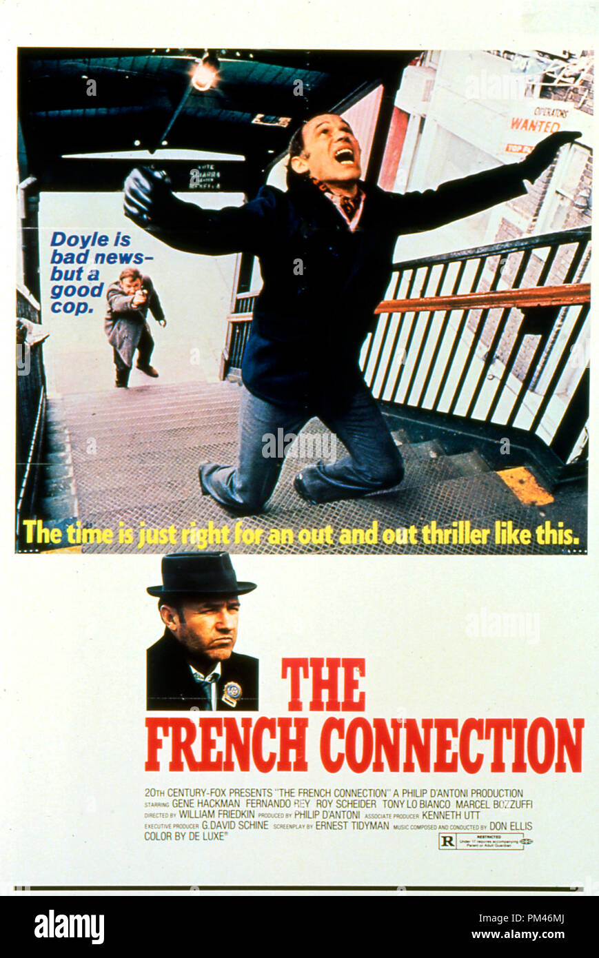 Gene Hackman 'The French Connection' Poster 1971 20th Century Fox    . File Reference #1076_017THA - Stock Image