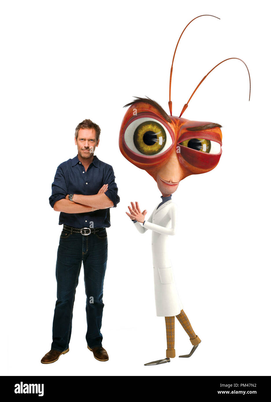"HUGH LAURIE voices Dr. Cockroach, Ph.D. in DreamWorks Animation SKG  Presents ""Monsters vs. Aliens,"" a Paramount Pictures release 2009 - Stock Image"