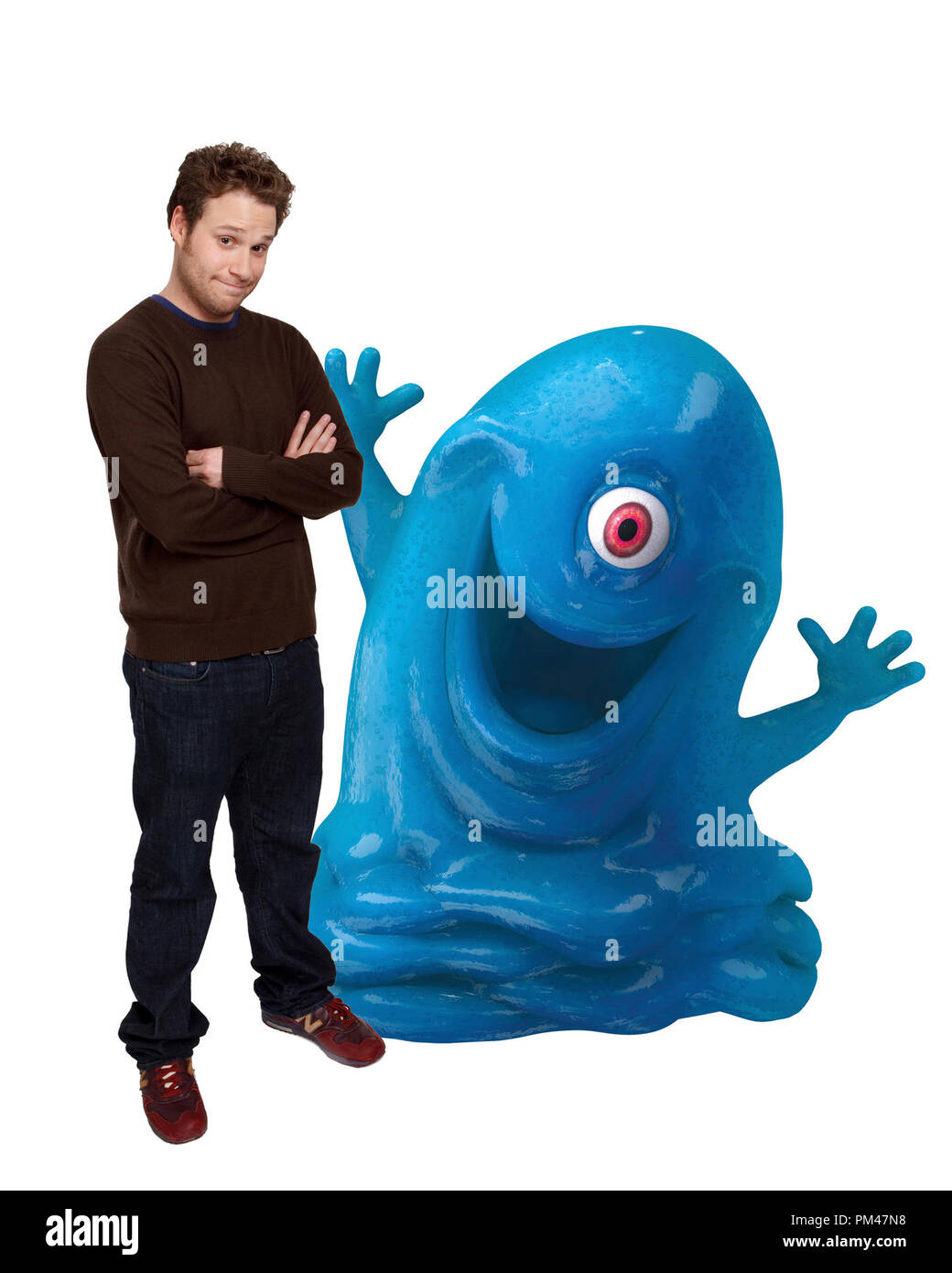 "SETH ROGEN voices B.O.B. in DreamWorks Animation SKG  Presents ""Monsters vs. Aliens,"" a Paramount Pictures release 2009 - Stock Image"