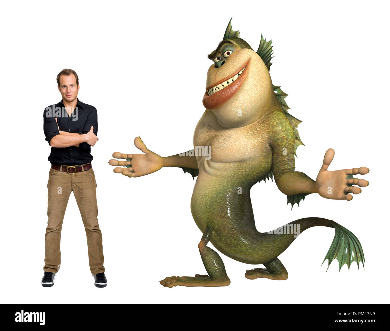 "WILL ARNETT voices The Missing Link in DreamWorks Animation SKG  Presents ""Monsters vs. Aliens,"" a Paramount Pictures release 2009 - Stock Image"