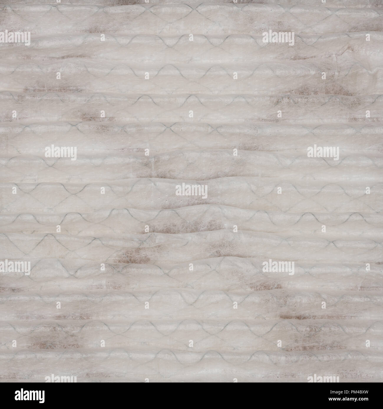 Close up pattern of a clean air furnace or air conditioning filter. - Stock Image
