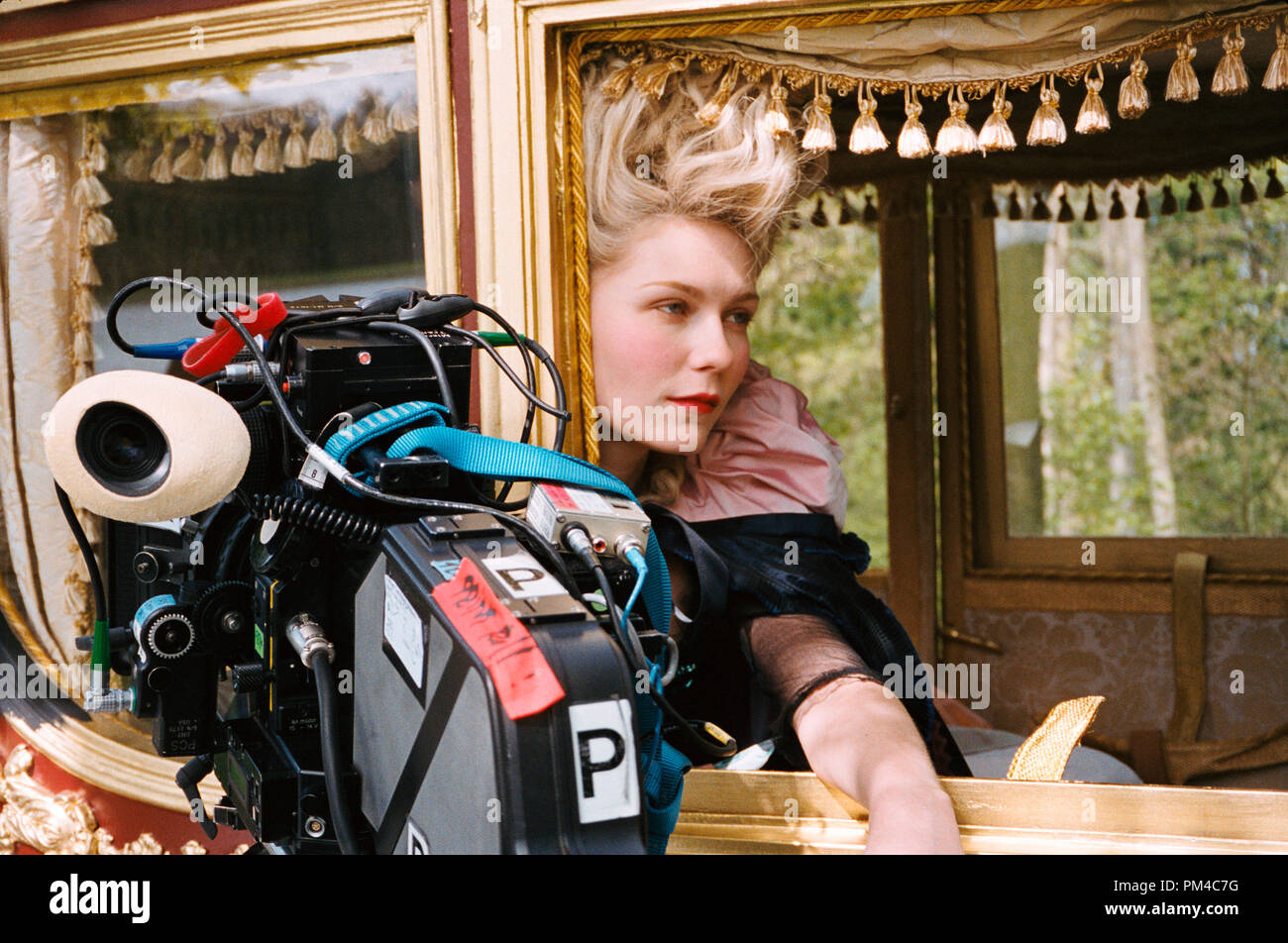 "Film Still from ""Marie Antoinette"" Kirsten Dunst Stock Photo"