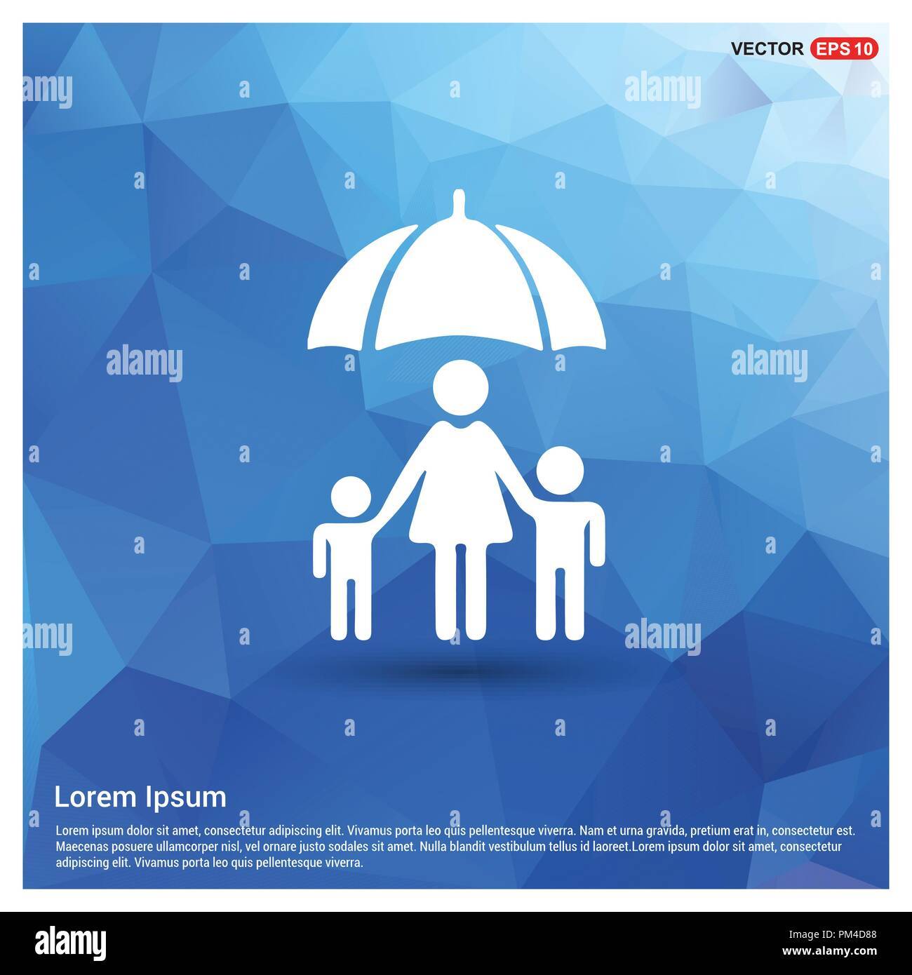 Family social insurance icon - Stock Vector