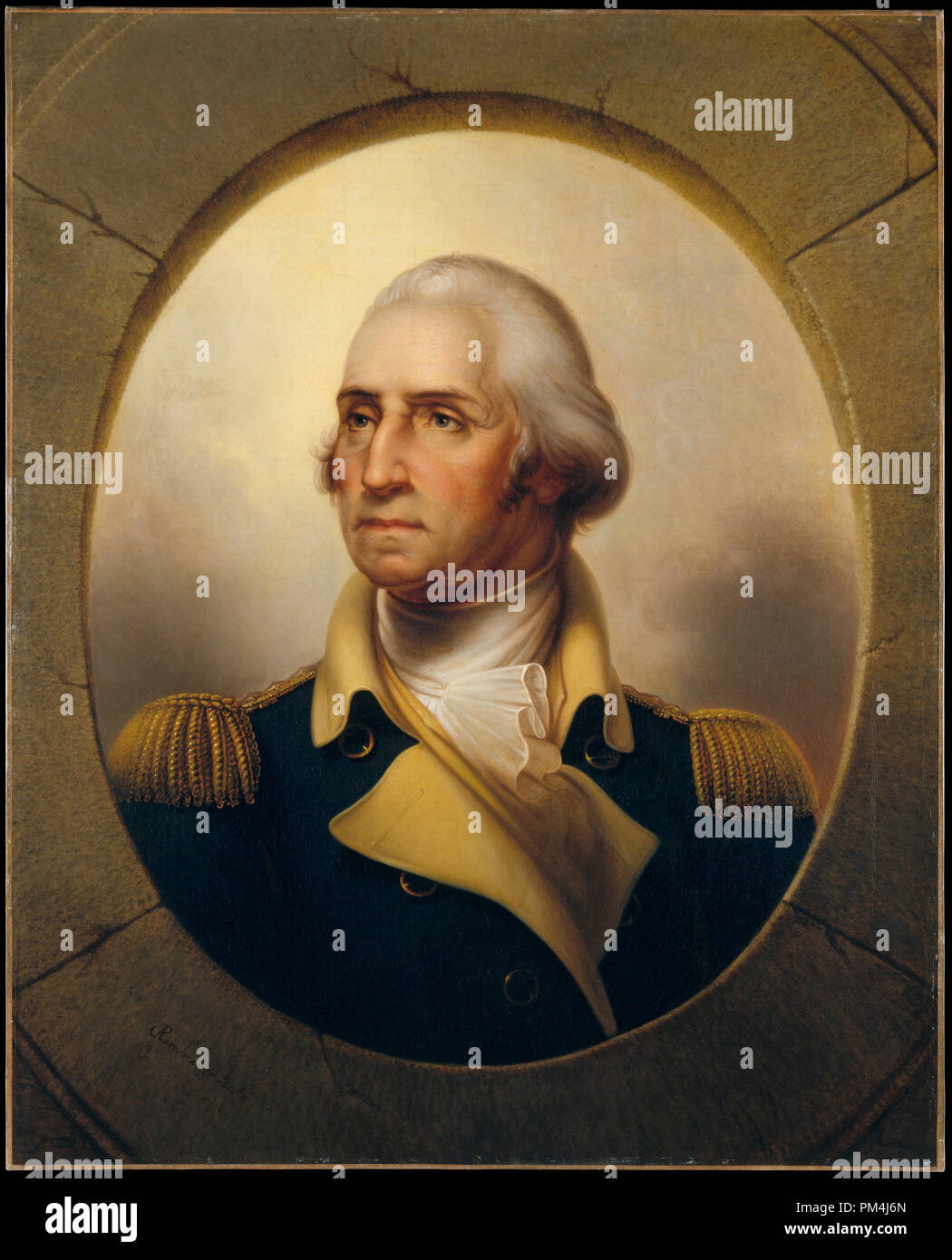 George Washington posthumous portrait by Rembrandt Peale, circa 1823    File Reference # 1003 570THA Stock Photo