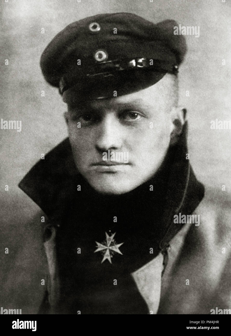 Manfred von Richthofen, The Red Baron. He is considered the ace-of-aces of WWI, being officially credited with 80 air combat victories, circa 1917   File Reference # 1003_783THA - Stock Image