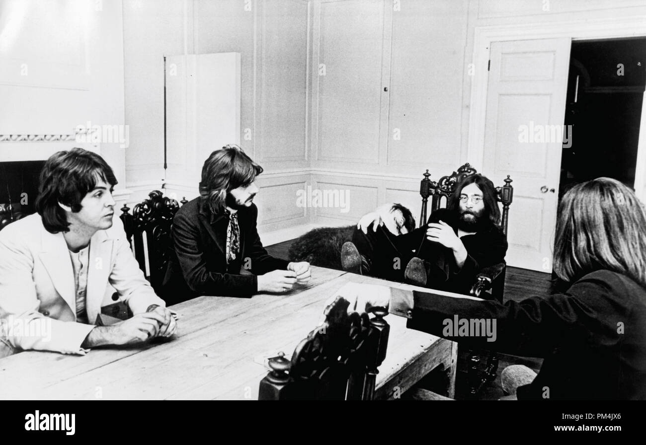Beatles John Lennon, George Harrison, Paul McCartney and Ringo Starr, circa 1969. File Reference #1013_082 THA © JRC /The Hollywood Archive - All Rights Reserved. - Stock Image
