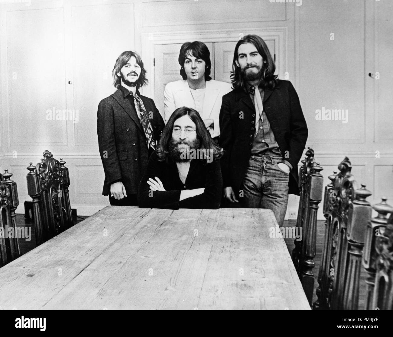 Beatles Ringo Starr, Paul McCartney, George Harrison and John Lennon, circa 1969. File Reference #1013_103 THA © JRC /The Hollywood Archive - All Rights Reserved. - Stock Image