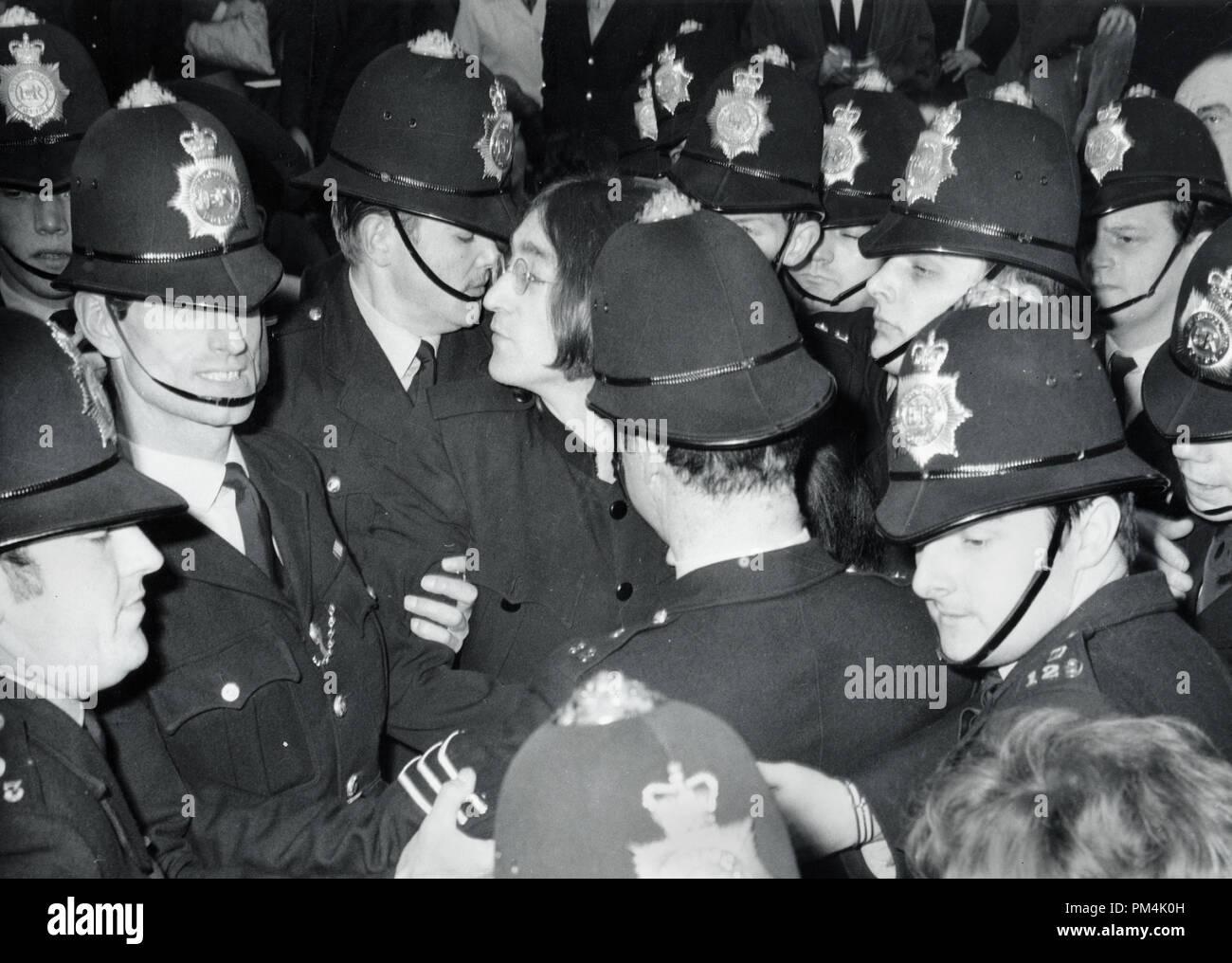 Beatle John Lennon arrives at Marylebone Court in UK to face